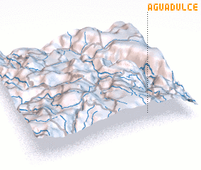 3d view of Agua Dulce