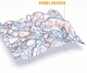 3d view of Pueblo Nueve