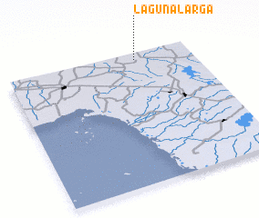 3d view of Laguna Larga