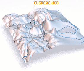 3d view of Cushca Chico