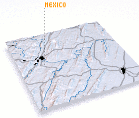 3d view of Mexico