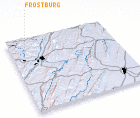 3d view of Frostburg