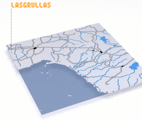 3d view of Las Grullas