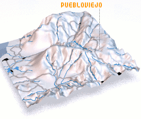 3d view of Pueblo Viejo