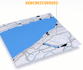 3d view of Keaches Corners