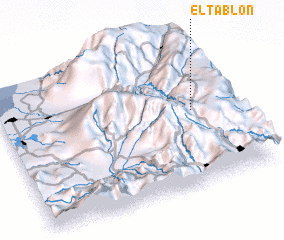 3d view of El Tablón