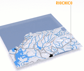 3d view of Río Chico