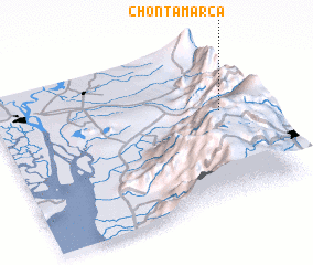 3d view of Chontamarca