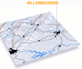 3d view of Hillsman Corner