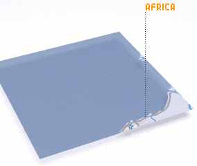 3d view of Africa