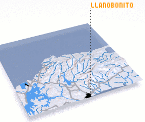 3d view of Llano Bonito