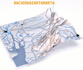3d view of Hacienda Santa Marta