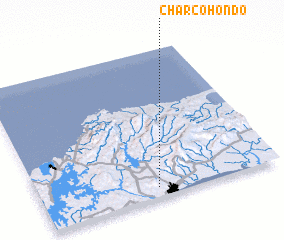 3d view of Charco Hondo