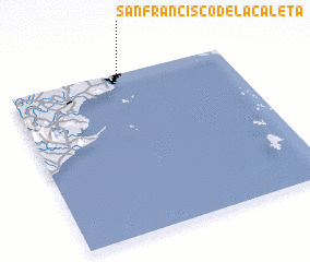3d view of San Francisco de la Caleta