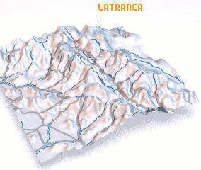 3d view of La Tranca