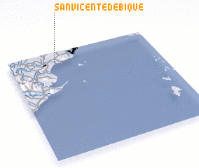 3d view of San Vicente de Bique