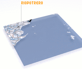 3d view of Río Potrero