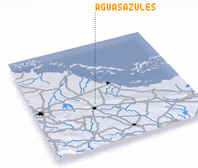 3d view of Aguas Azules