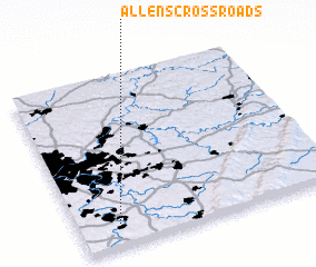 3d view of Allens Crossroads