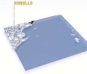 3d view of Río Bollo