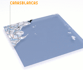 3d view of Cañas Blancas