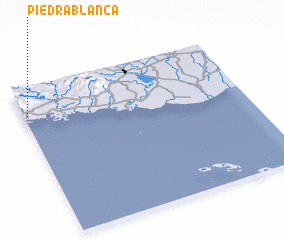 3d view of Piedra Blanca