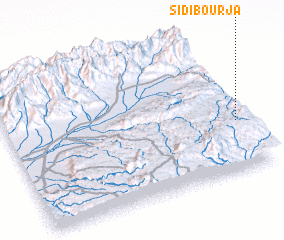 3d view of Sidi Bou Rja