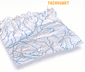 3d view of Tazougart