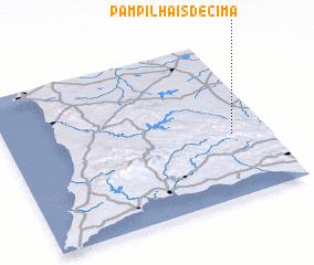 3d view of Pampilhais de Cima