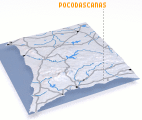 3d view of Poço das Canas