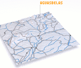 3d view of Águas Belas