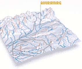 3d view of Aourir n'Irg