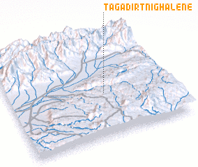 3d view of Tagadirt n' Ighalene