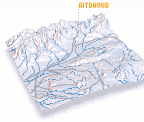 3d view of Aït Daoud