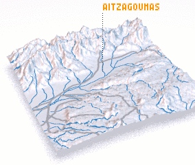 3d view of Aït Zagoumas