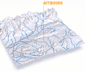 3d view of Aït Ibourk