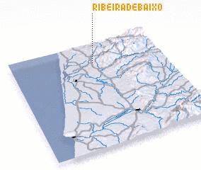 3d view of Ribeira de Baixo