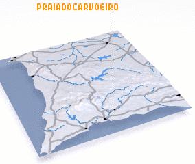 Praia Do Carvoeiro Portugal Map Nonanet - Portugal map carvoeiro