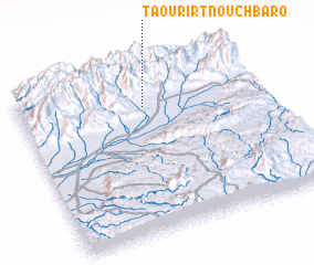 3d view of Taourirt n'Ouchbaro