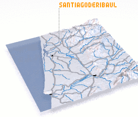 3d view of Santiago de Riba-Ul