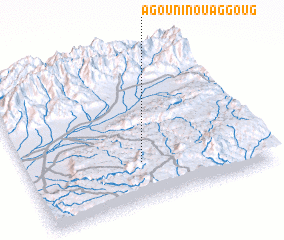 3d view of Agouni n' Ouaggoug