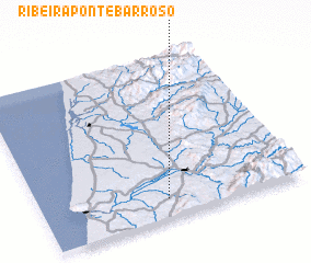3d view of Ribeira Ponte Barroso