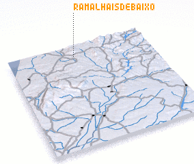 3d view of Ramalhais de Baixo