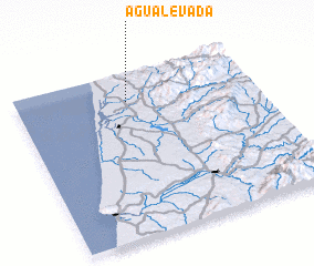 3d view of Água Levada