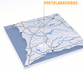 3d view of Portela das Eiras