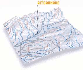 3d view of Aït Dahmane
