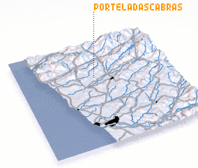 3d view of Portela das Cabras