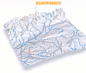3d view of Agadir Abbou