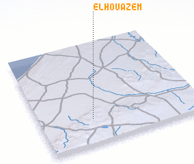 3d view of El Houazem