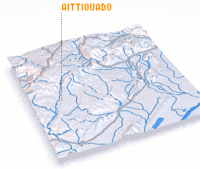 3d view of Aït Tiouado